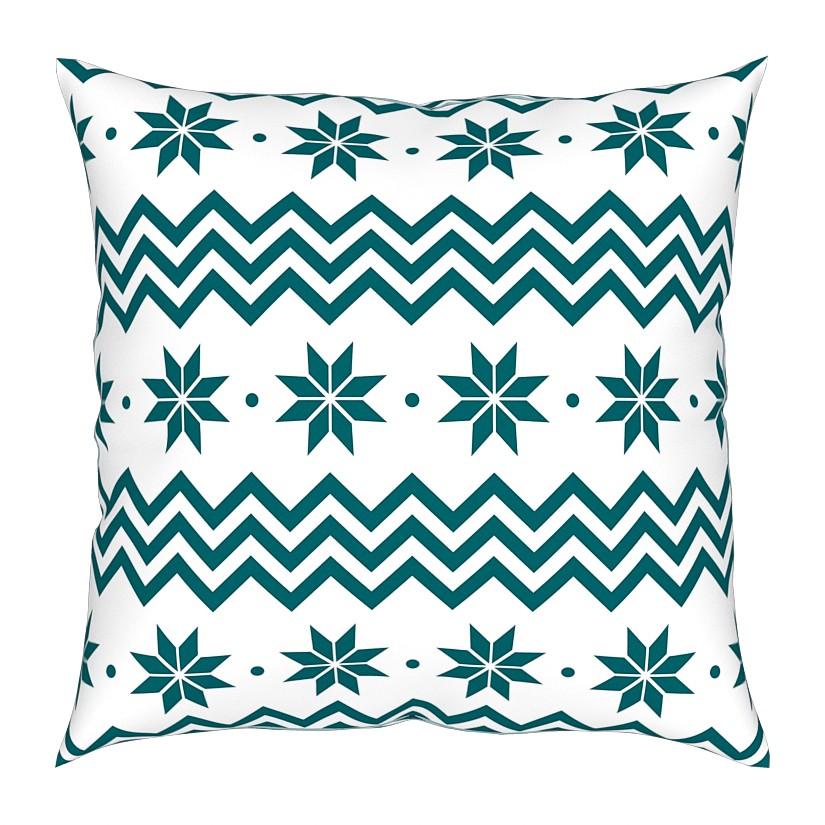 Sierkussen Pyhtää - geweven stof - wit/groen, Pandora