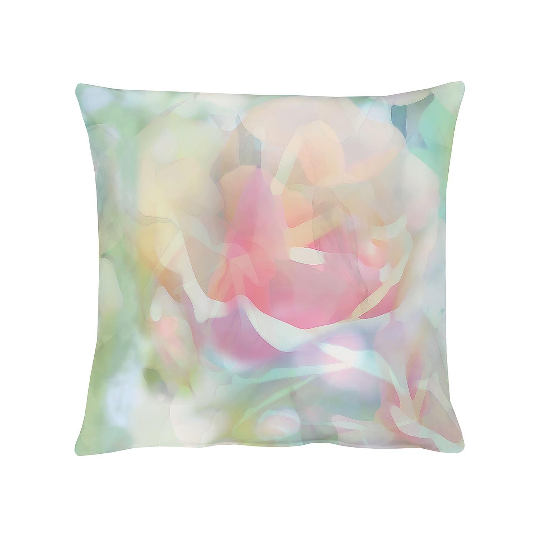 Kussen Springtime III - Groen/roze - 39x39cm, Apelt