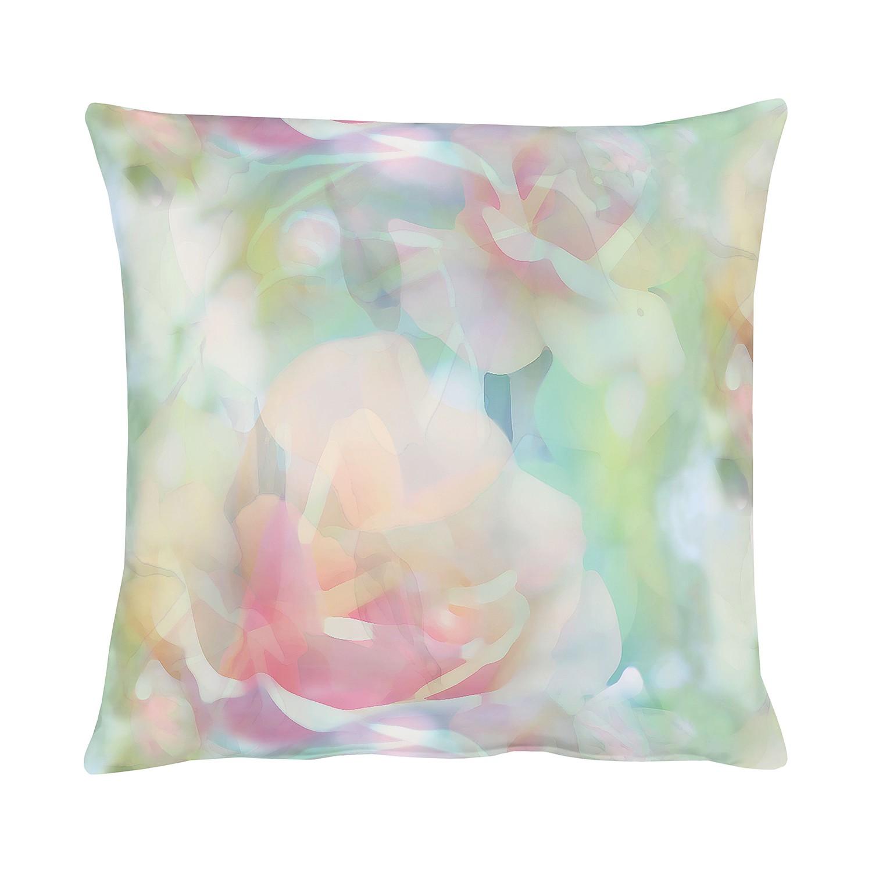 Kussen Springtime III - Groen/roze - 48x48cm, Apelt