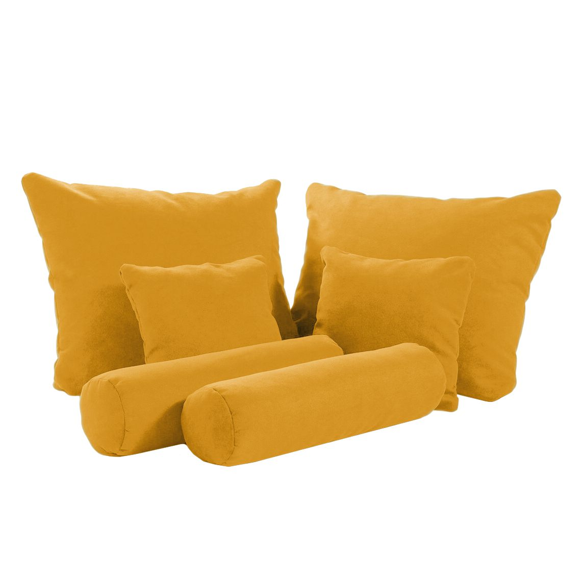 Home 24 - Coussin stamford welham (lot de 6) - microvelours - jaune moutarde, fredriks