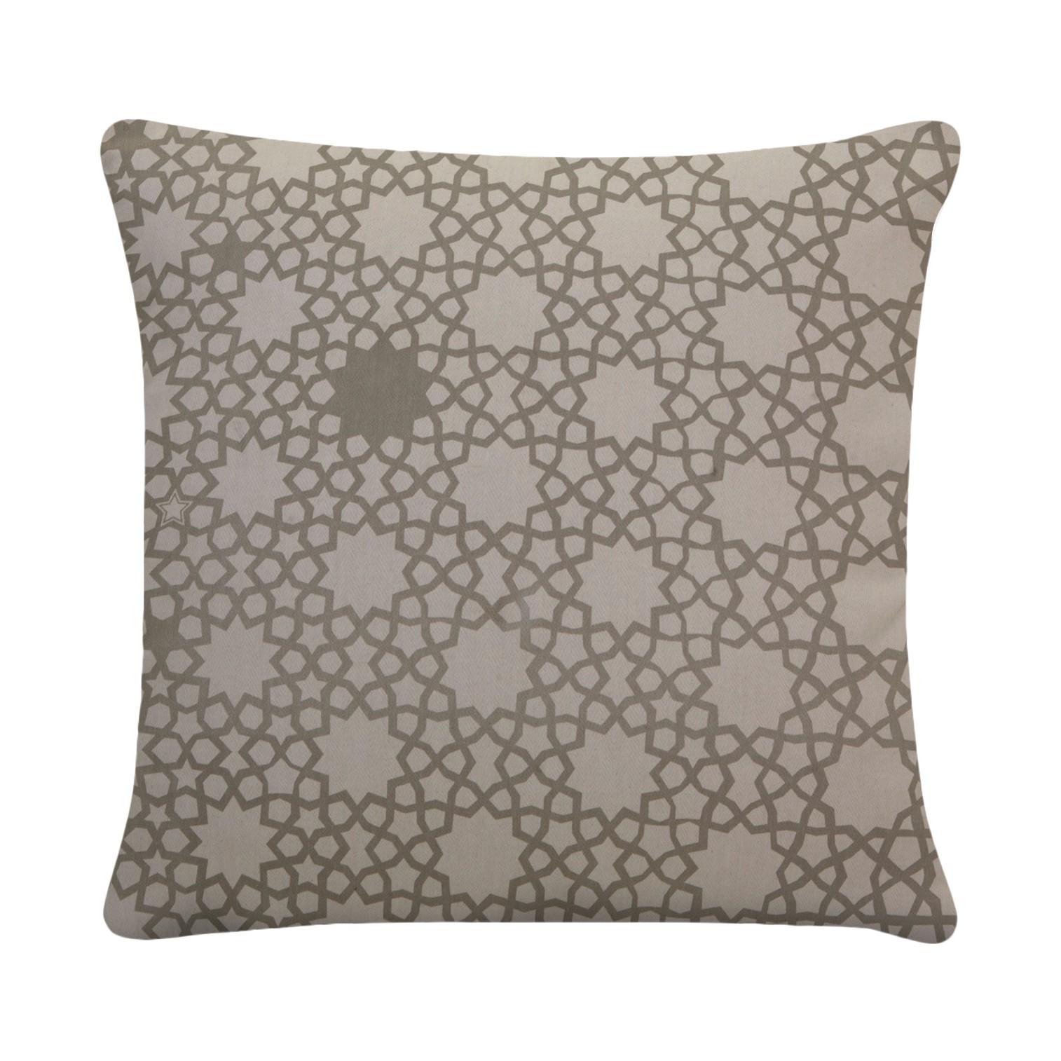 housse de coussin grand alhambra beige korla le fait main. Black Bedroom Furniture Sets. Home Design Ideas