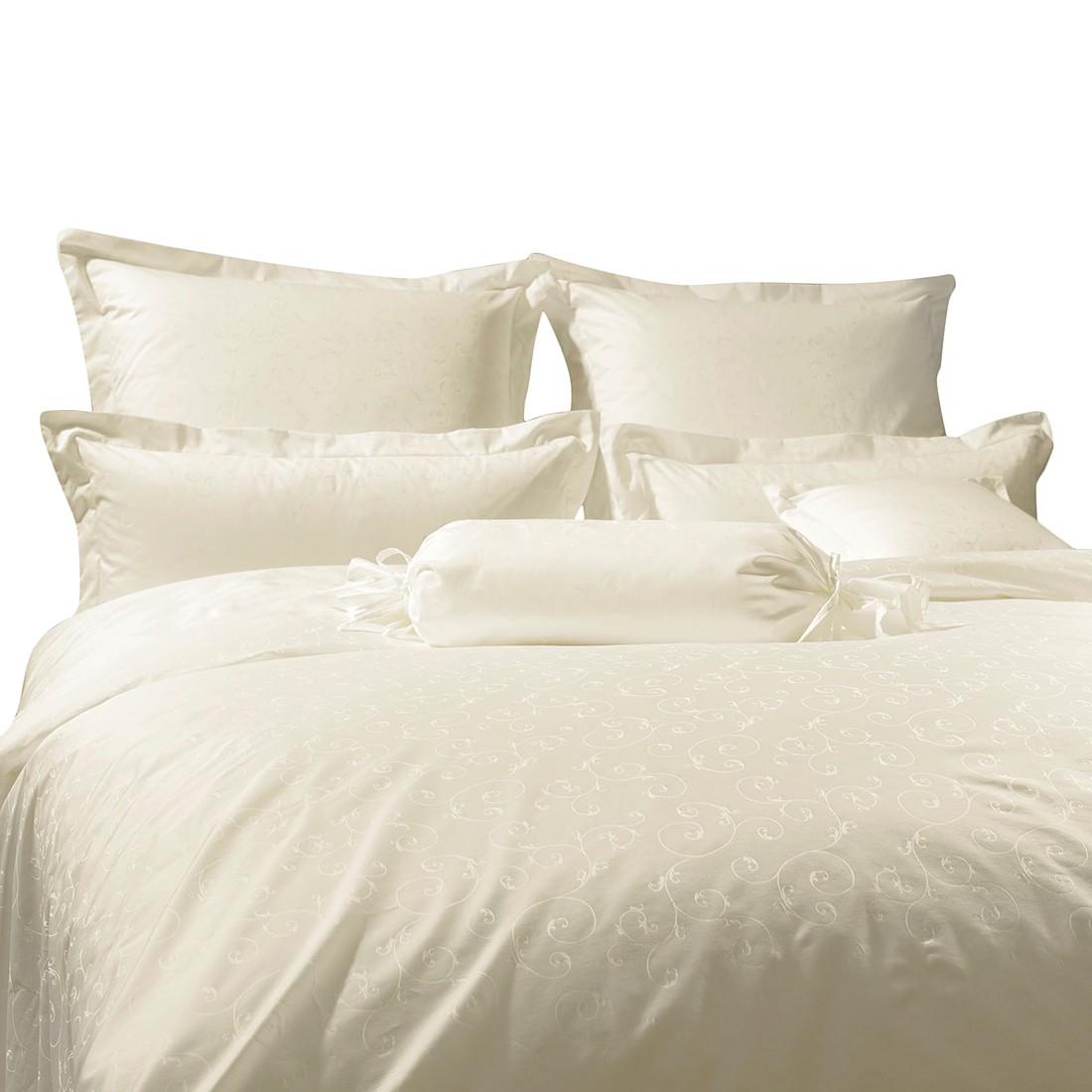 Home 24 - Taie d oreiller rubin - avec broderie - beige - 40 x 80 cm, janine