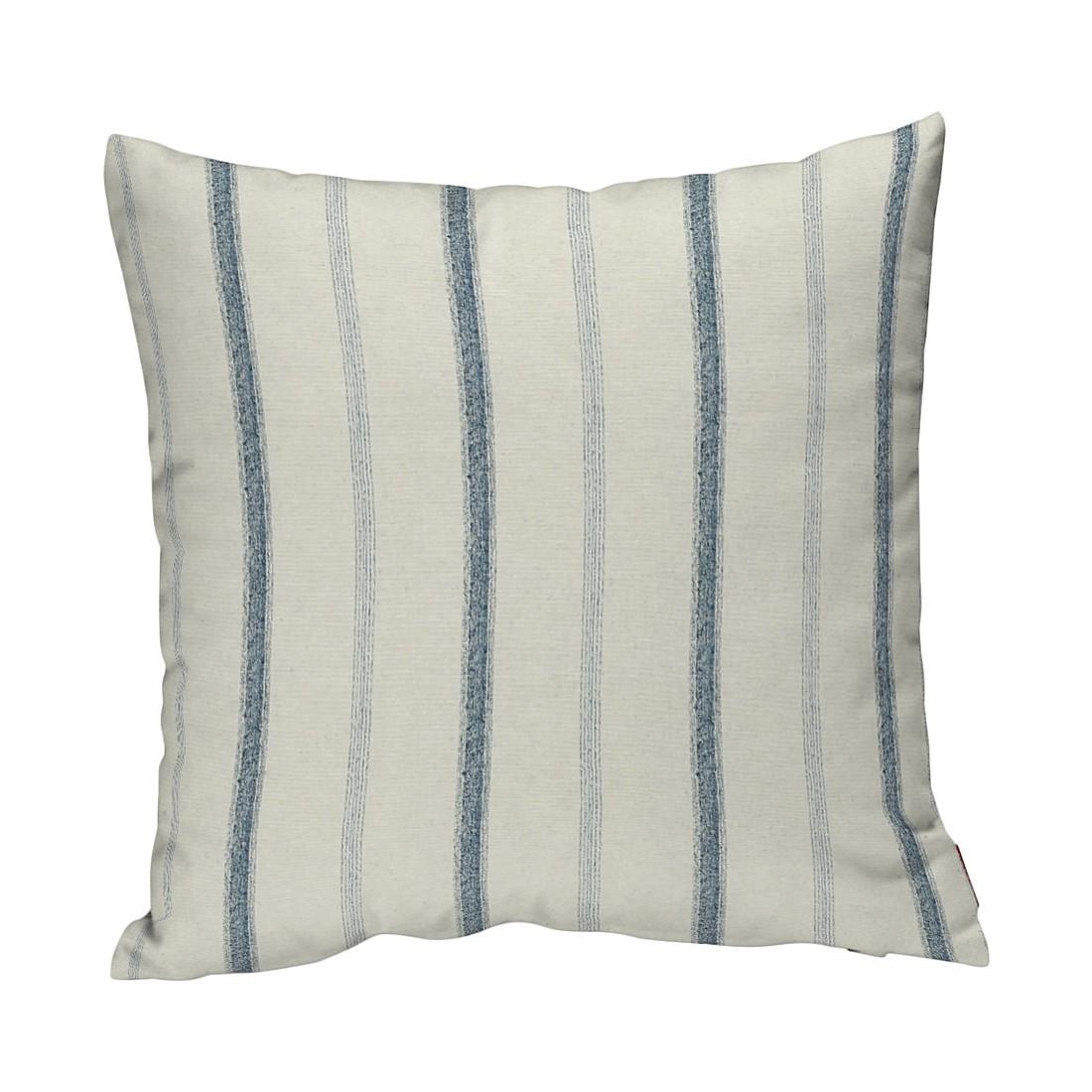 Image of Federe per cuscini - Crema/Righe blu crema/strisce 40 x cm, Dekoria