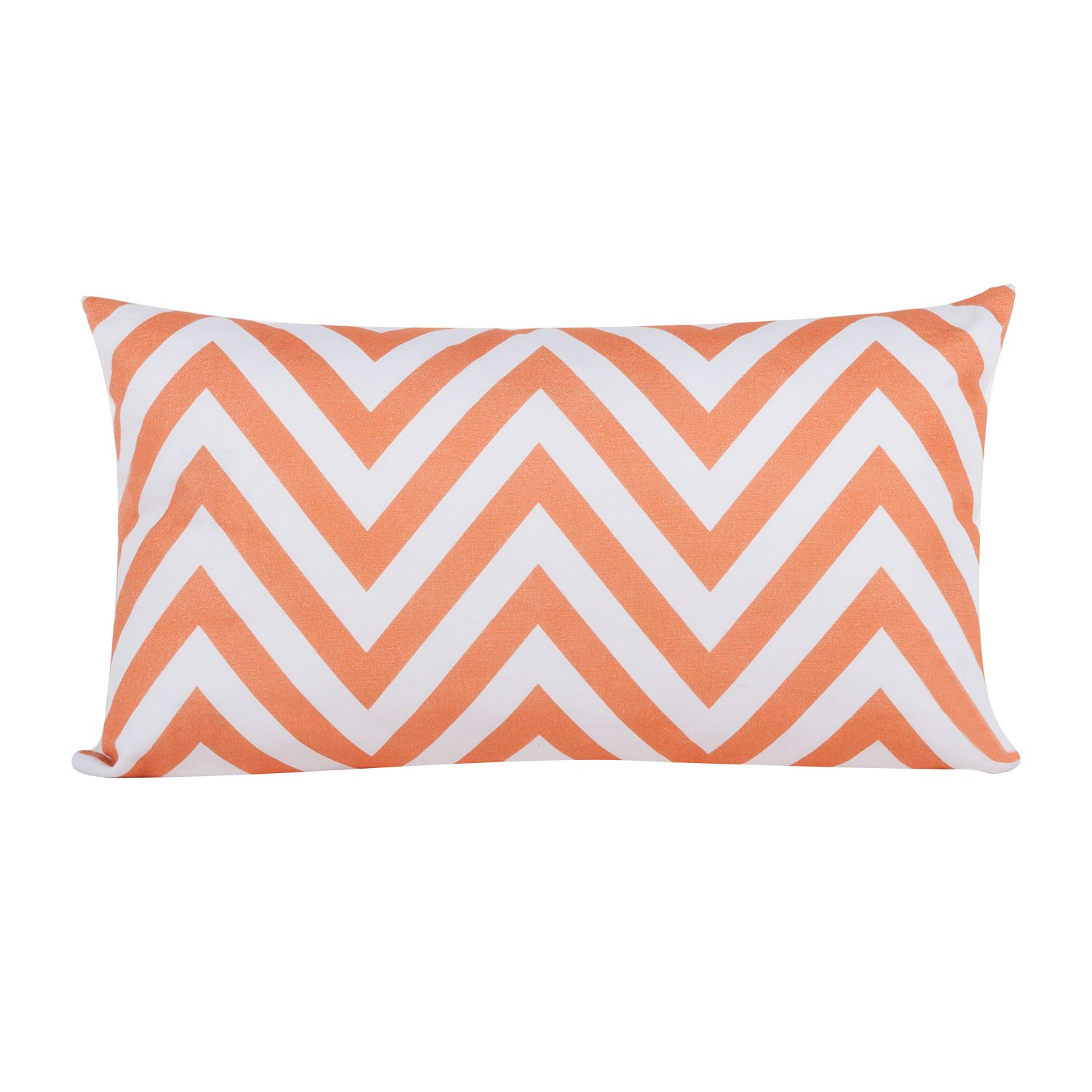 Kussensloop Chevron Love - zwart - Oranje/wit, Morteens