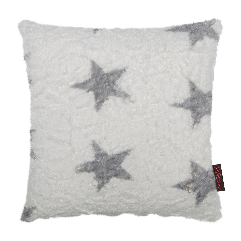 Home 24 - Housse de coussin fluffy stars - tissu - blanc, magma heimtex