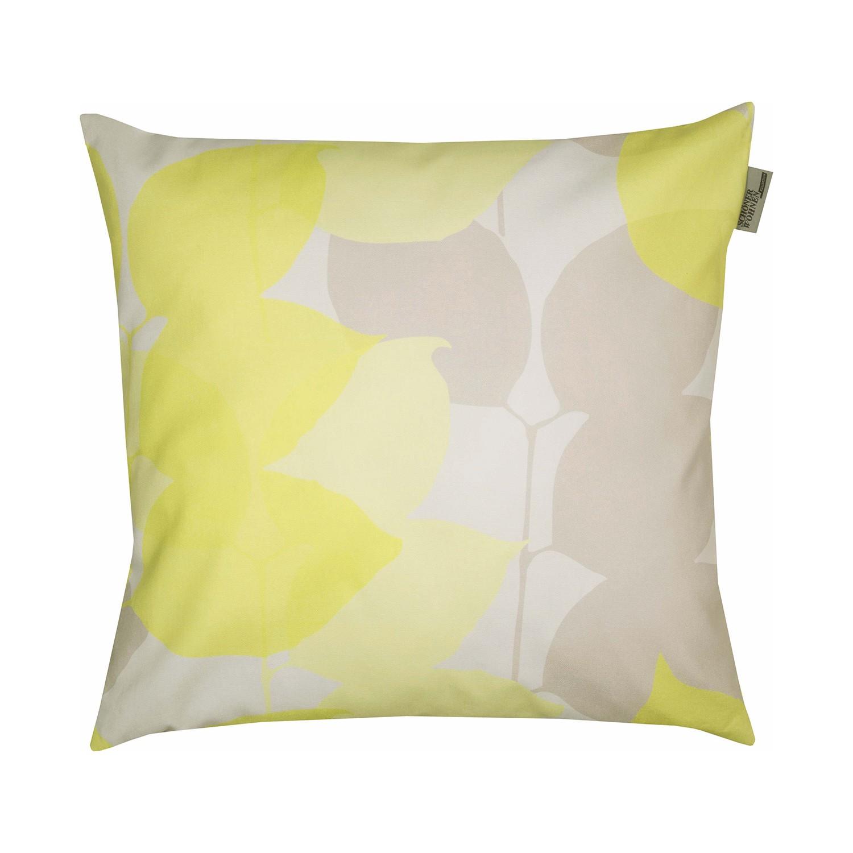 Home 24 - Housse de coussin folio - blanc / jaune, schöner wohnen kollektion