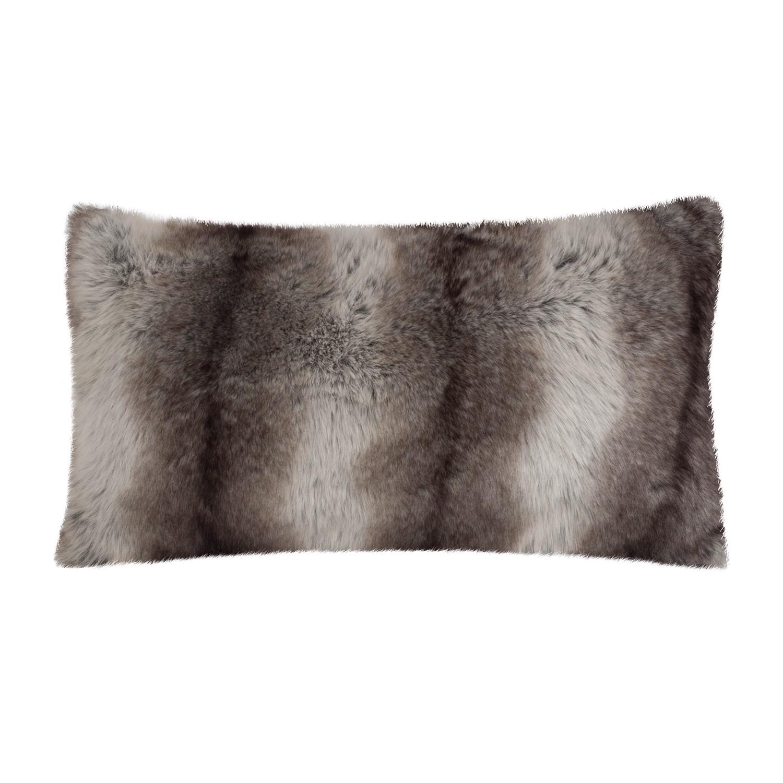 Home 24 - Housse de coussin fury - gris 40 x cm - marron - 30 x 50 cm, kollected by johanna
