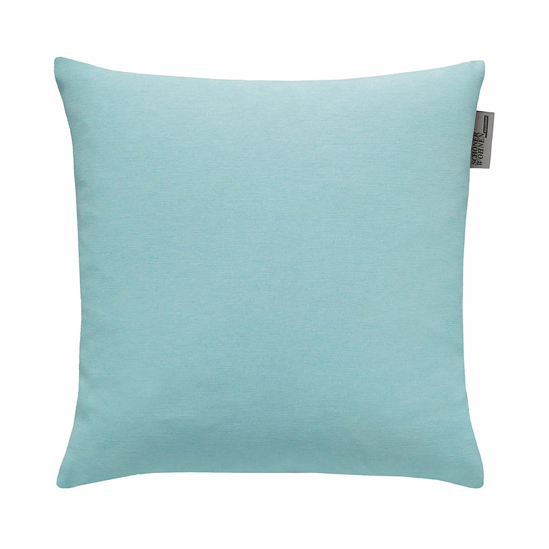Home 24 - Housse de coussin mono ii - turquoise - 38 x 38 cm, schöner wohnen kollektion