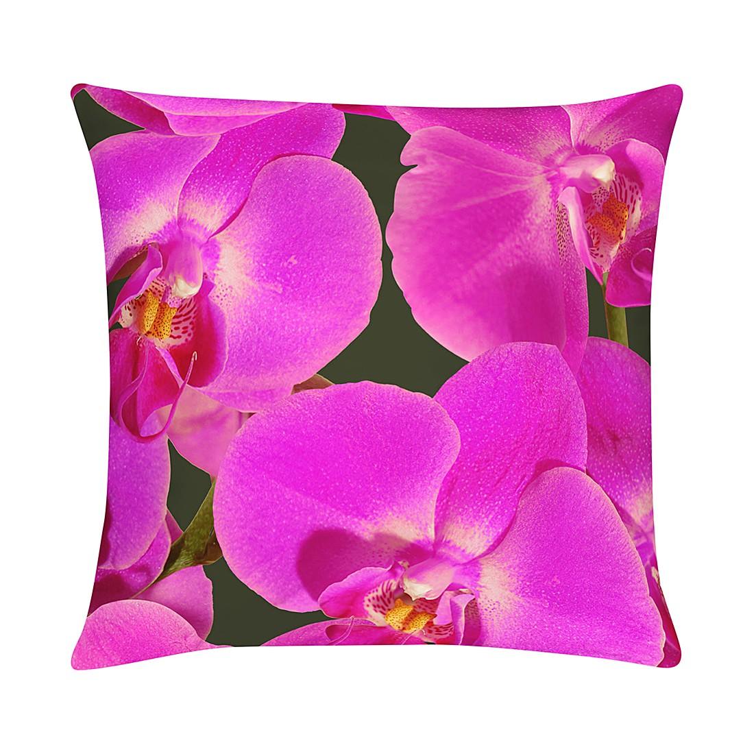 Federa per cuscino Orchidee - Viola - 40 x 40 cm, Apelt