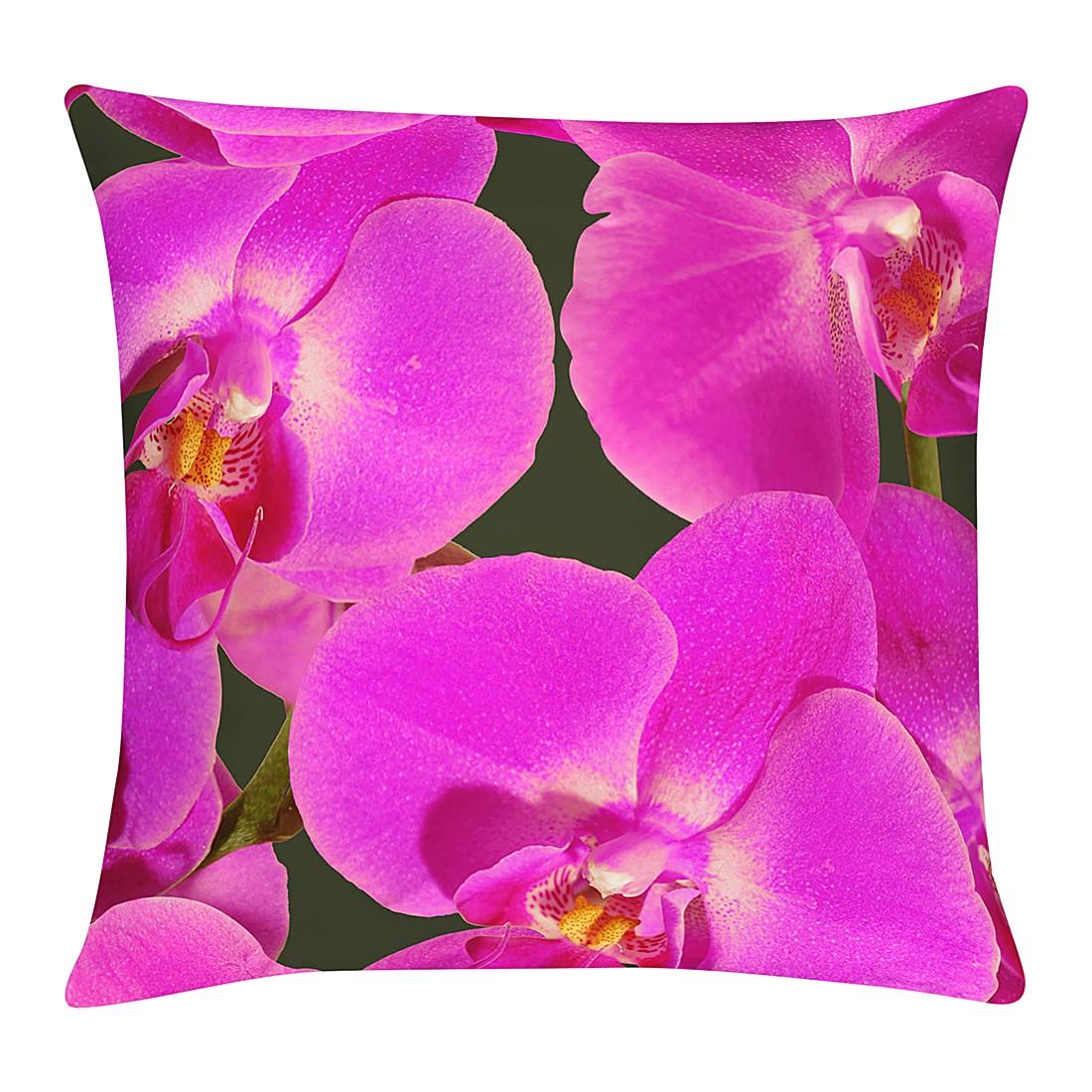 Kussensloop Orchidee - paars - 49x49cm, Apelt
