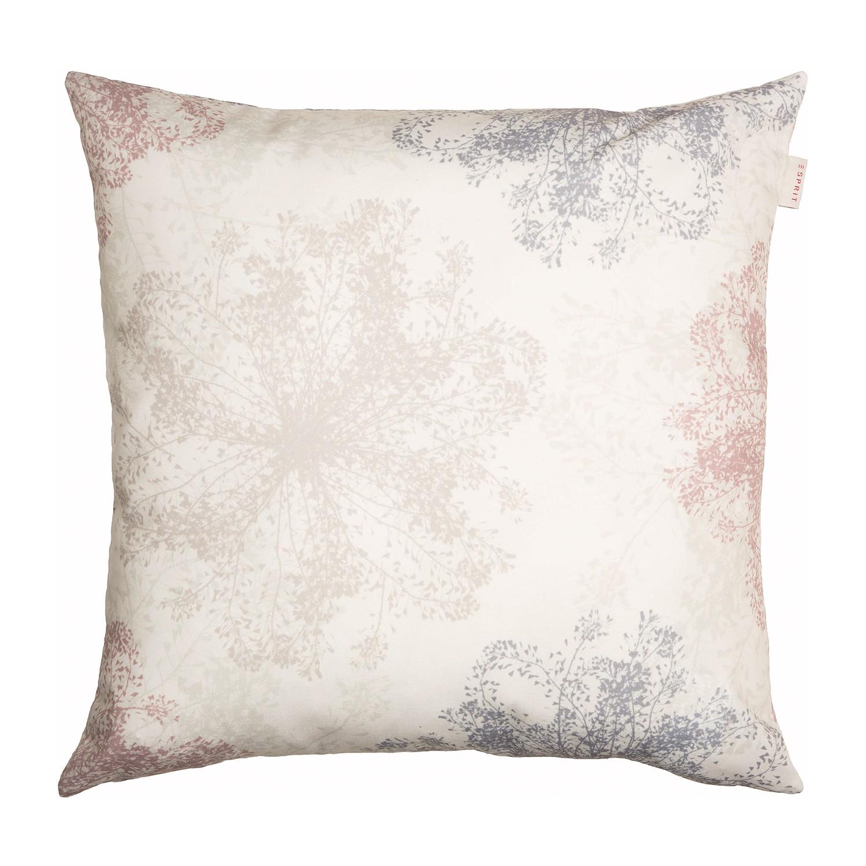 Kussensloop Snowflakes - geweven stof - beige/roze, Esprit Home