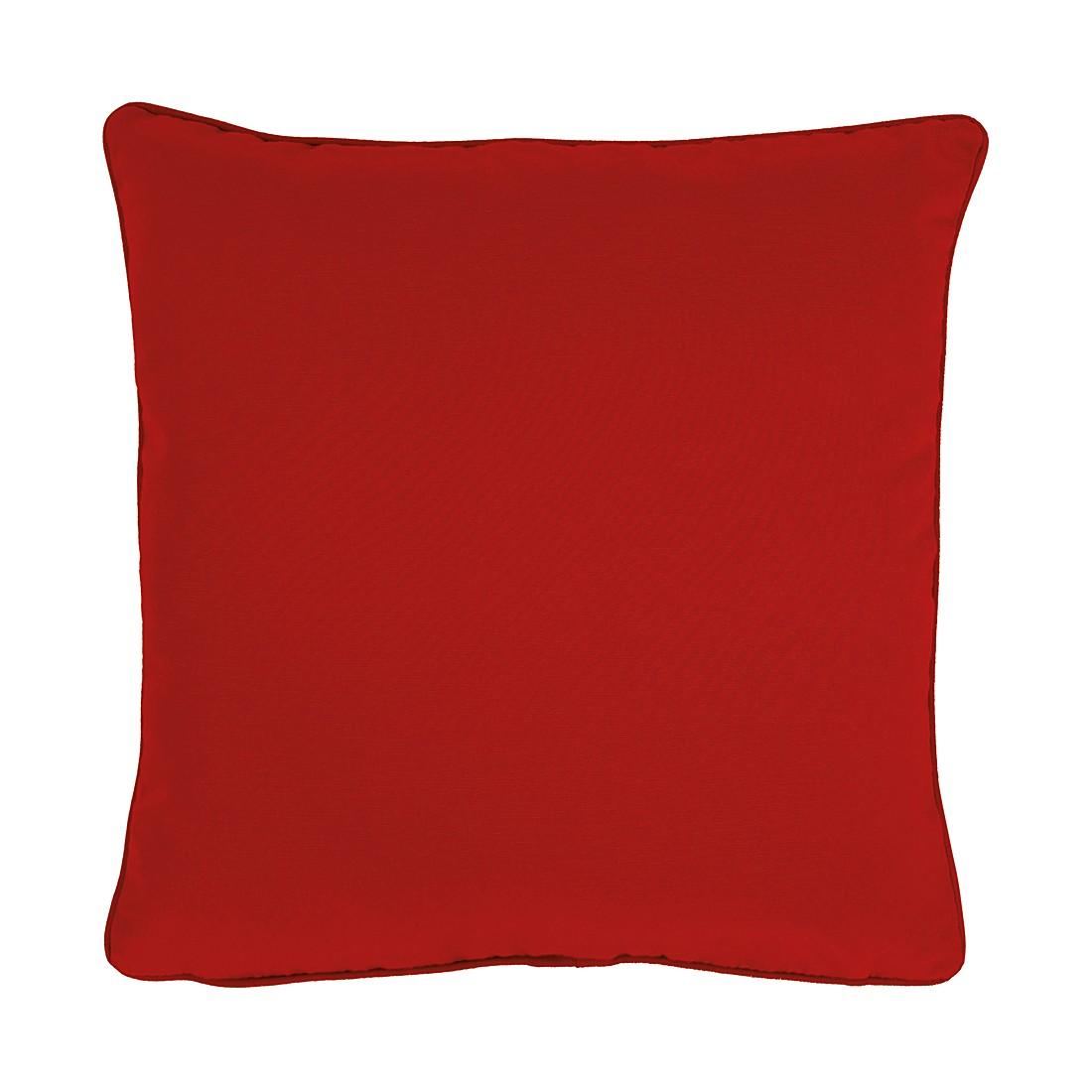 Home 24 - Housse de coussin tizian - rouge rubis - 46 x 46 cm, apelt