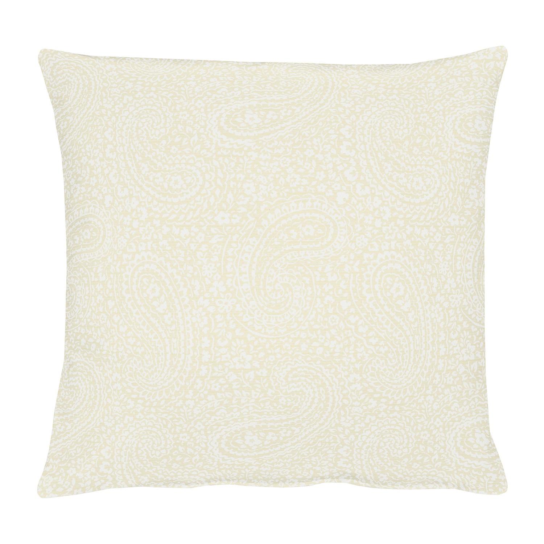 Kussensloop Uni Paisley - geweven stof - Licht beige, Apelt