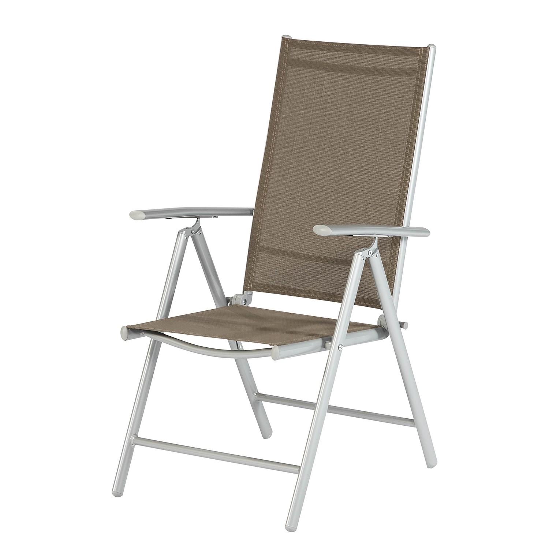 Sedia pieghevole Amalfi - Alluminio - Color talpa, Merxx