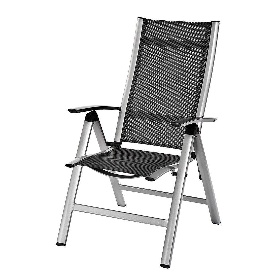 Klappsessel Emmelina - Aluminium/Textilene® - Schwarz, Belardo