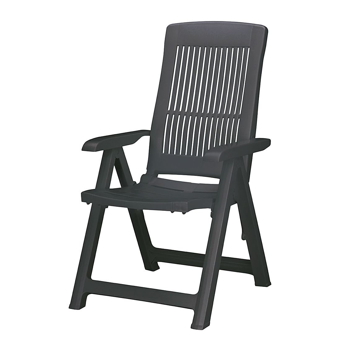 Home 24 - Fauteuil empilable florida - matériau synthétique - anthracite, best freizeitmöbel