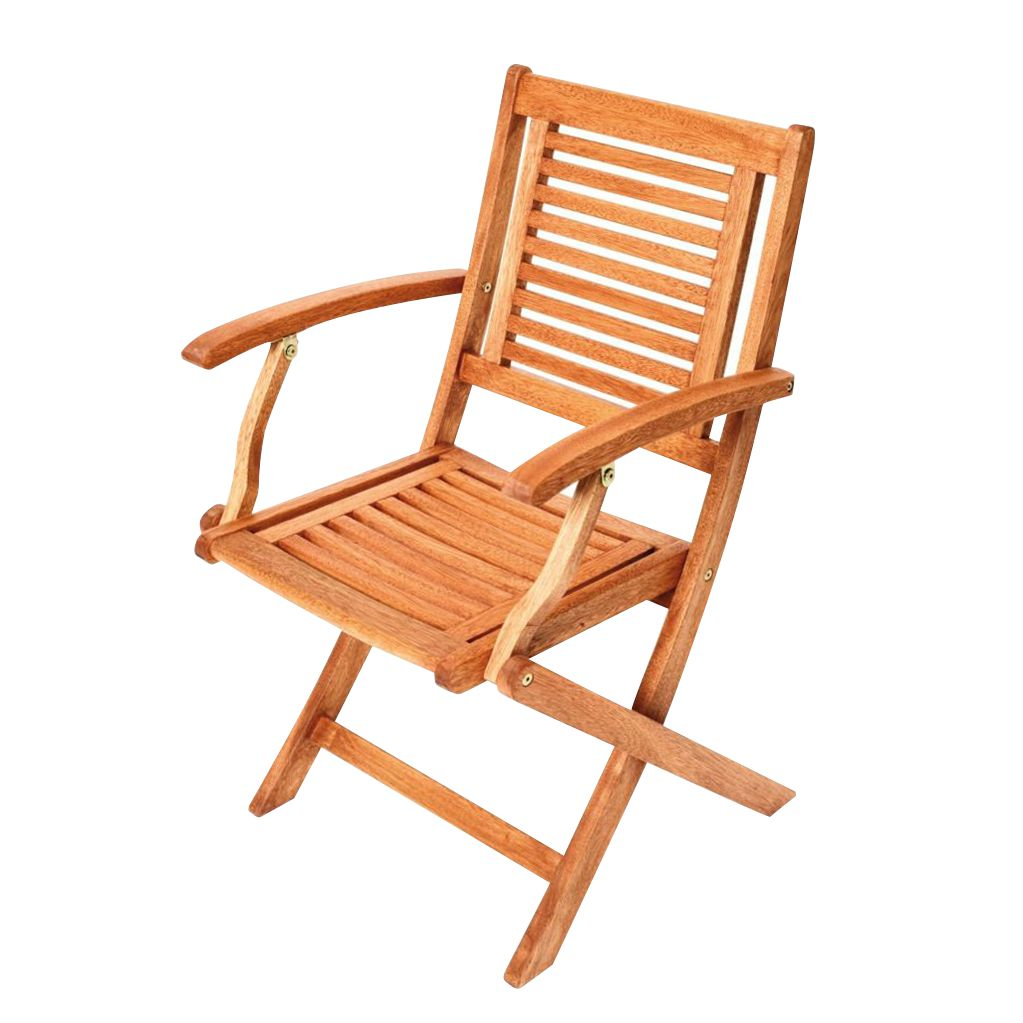 Home 24 - Chaise pliable cordoba (lot de 2) - eucalyptus massif, merxx