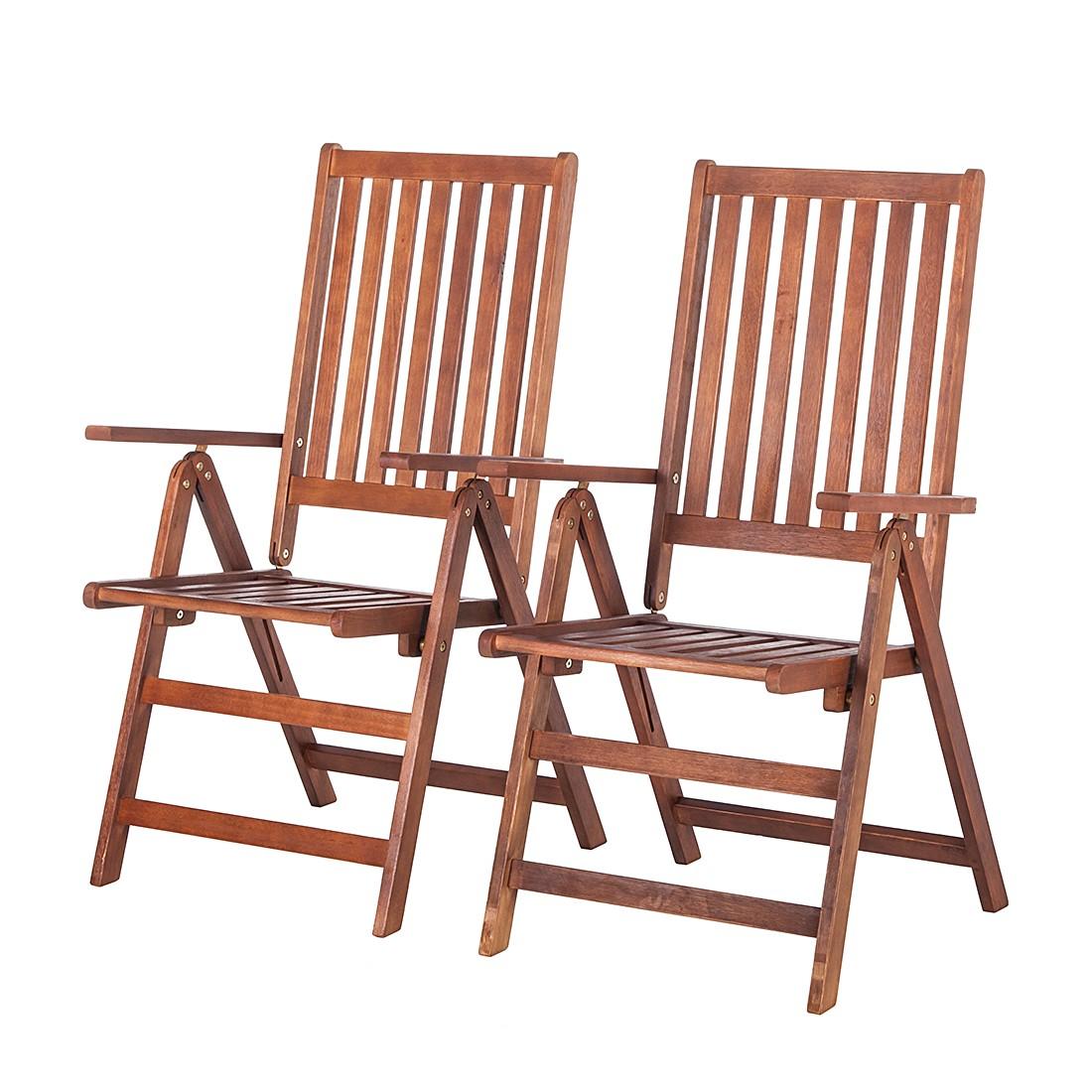 Sedia A Sdraio Euka Nautre (set Da 2) Legno Massello Di Eucalipto  #A04A2B 1100 1100 Sedie A Sdraio In Legno Ikea