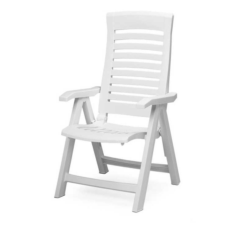 Home 24 - Chaise pliante florida - matériau synthétique blanc, best freizeitmöbel