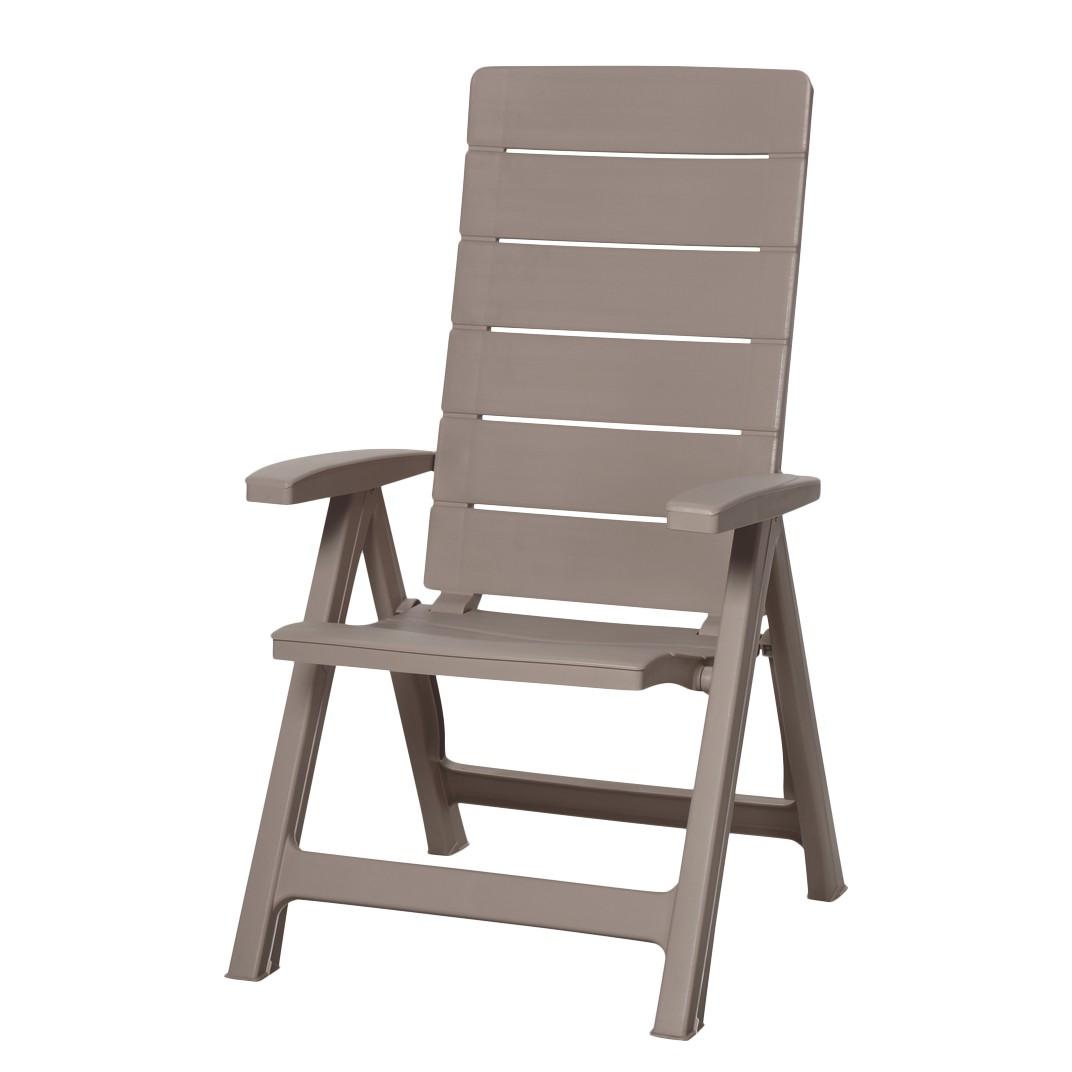 Home 24 - Chaise empilable pisa - plastique cappuccino, best freizeitmöbel