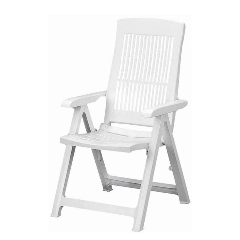 Klappstuhl Tampa - Kunststoff - Weiß, Siena Garden