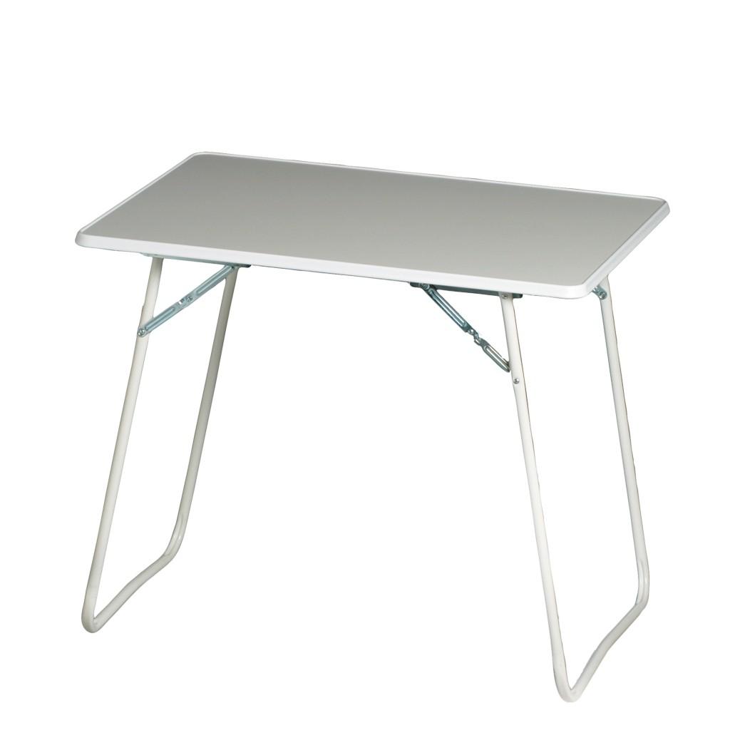 Tavolo pieghevole Chiemsee - Materiale sintetico/Tubi d'acciaio Bianco, Best Freizeitmöbel