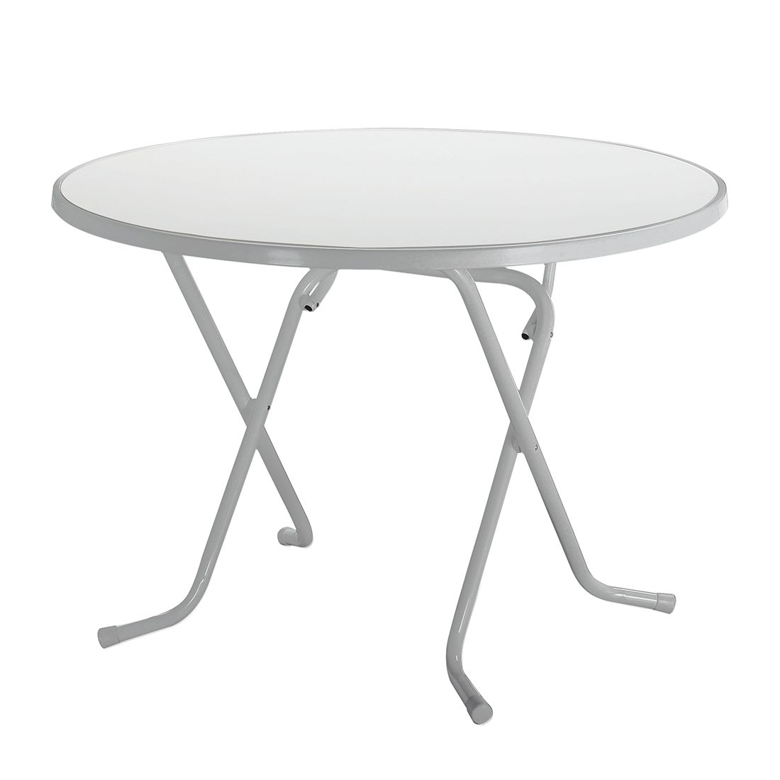 Tavolo pieghevole Primo - Tubi in acciaio Color argento 80 cm, Best Freizeitmöbel