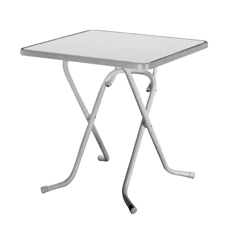 Klapptisch Primo - Stahlrohr Silber - 110 x 70 cm, Best Freizeitmöbel