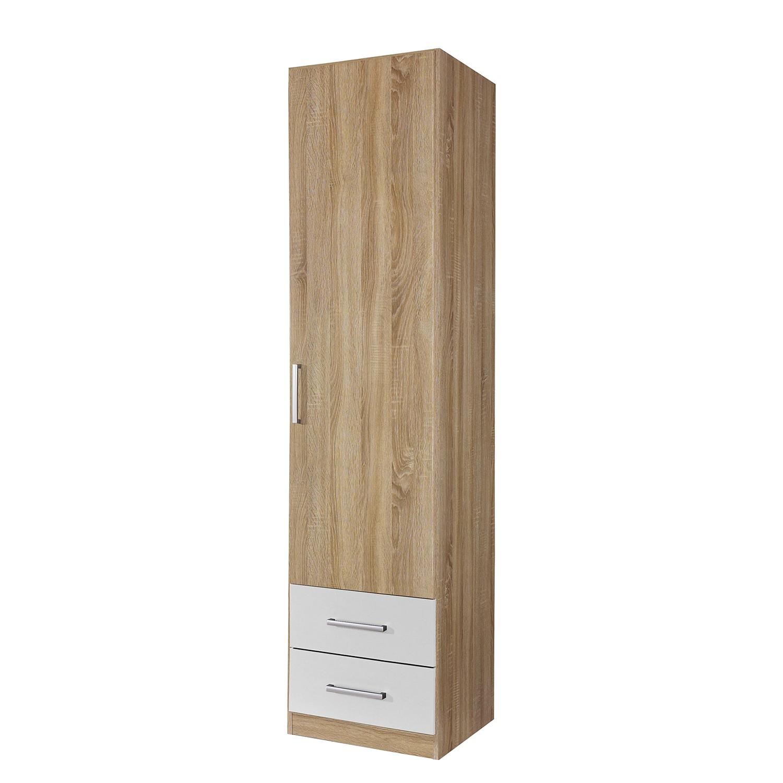 Kleiderschrank Albero Extra - Eiche Sonoma Dekor / Alpinweiß, Rauch Packs