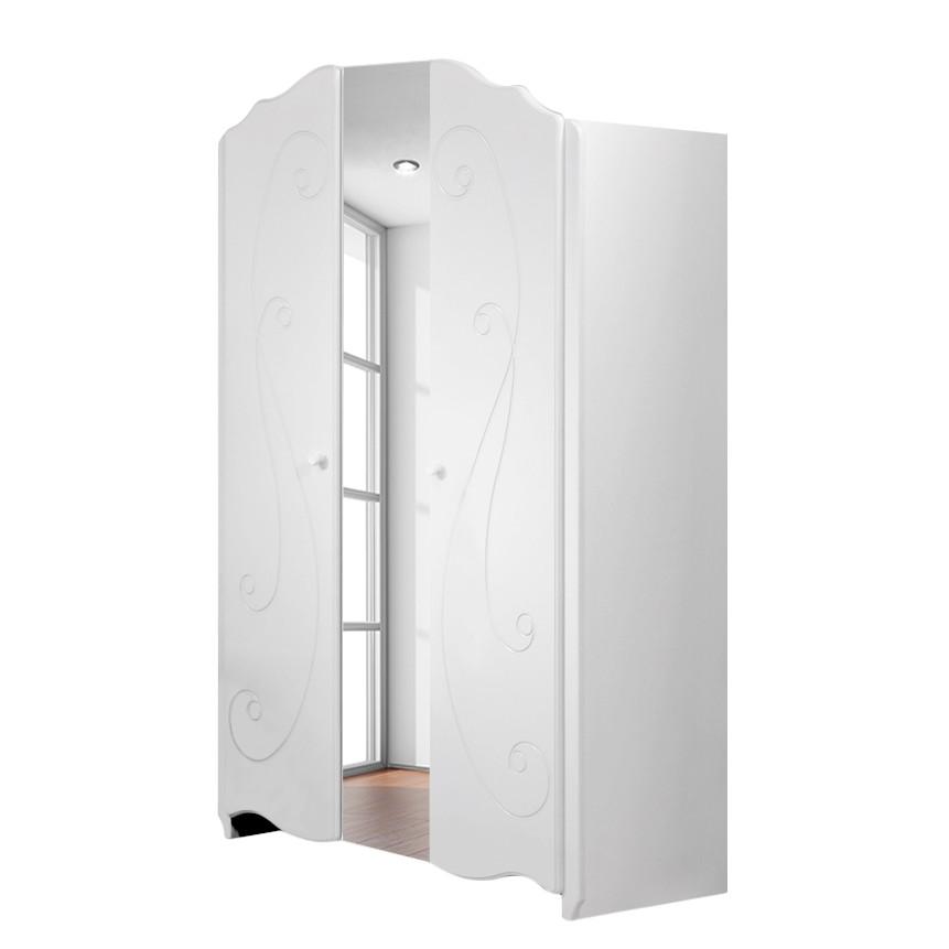 Kleiderschrank Alice - Weiß lackiert, Parisot Meubles