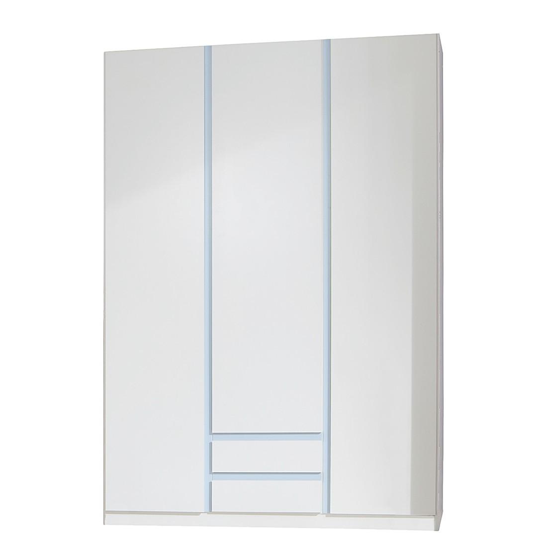 Armoire à vêtements Bibo II - Blanc alpin / Bleu glacé, Wimex