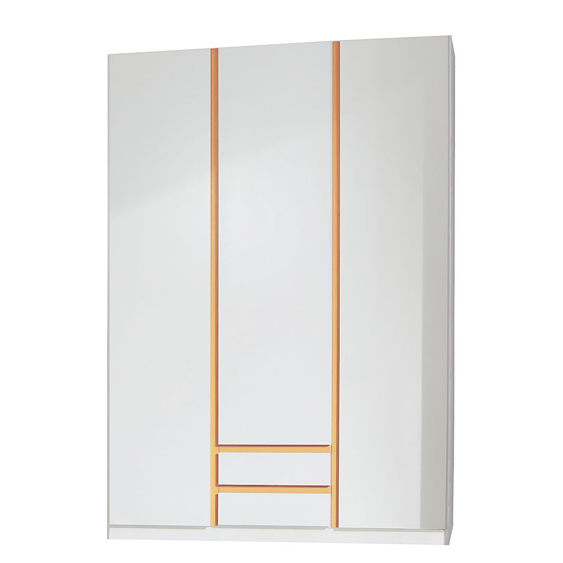 Armoire à vêtements Bibo II - Blanc alpin / Orange, Wimex