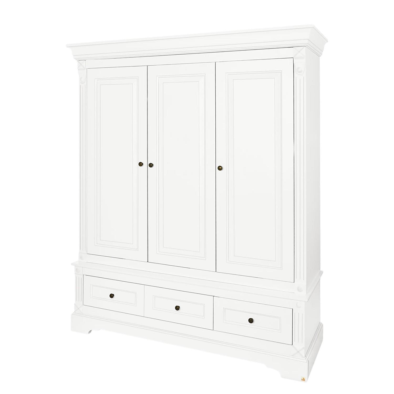 Armoire à portes battantes Emilia Kids - Blanc - 166 cm, Pinolino
