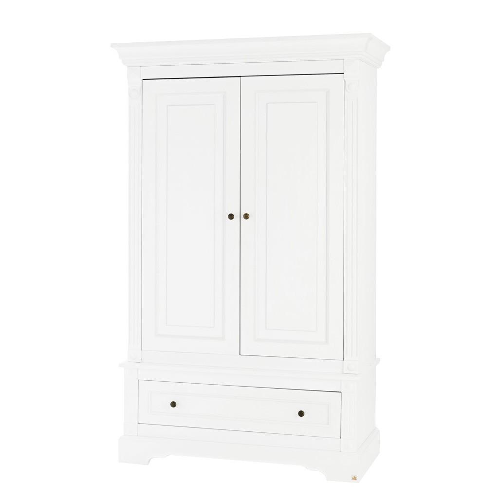 Drehtürenschrank Emilia Kids - Weiß - 128 cm, Pinolino