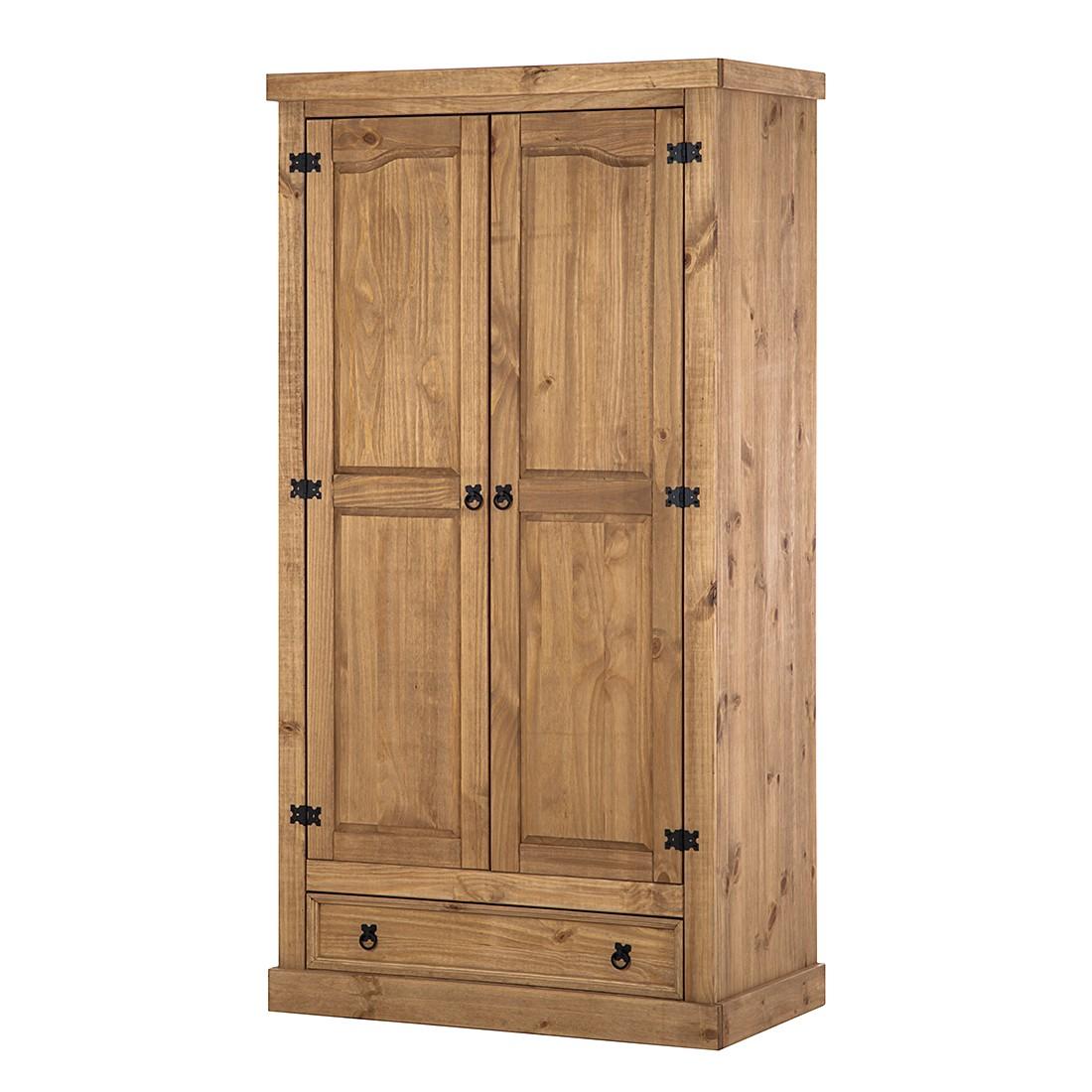 Armoire à portes pivotantes Finca Rustica II - Pin massif - 102 cm (2 portes), Maison Belfort