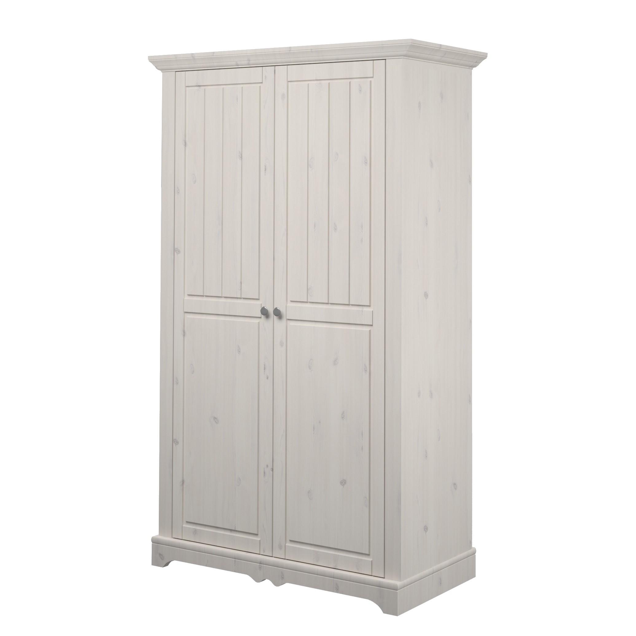 Kledingkast Karlotta 2 deurs   grenenhout white wash   White Washed_ Steens