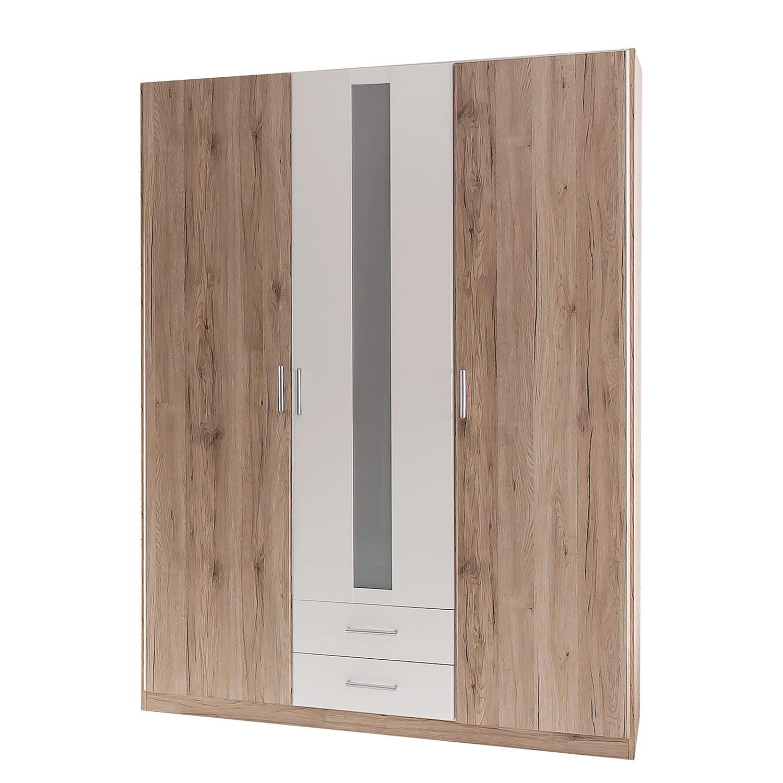 Armoire à vêtements Lenny - Imitation chêne de San Remo / Blanc alpin, Wimex