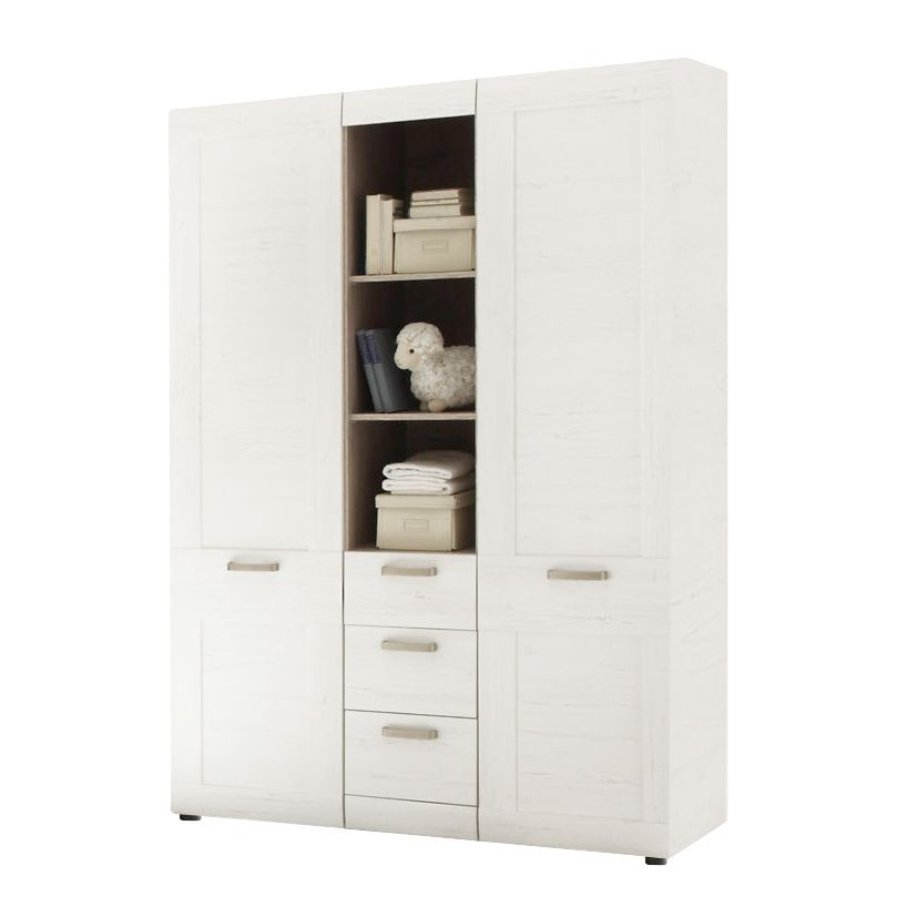 Armoire à vêtements Louis (2 portes) Imitation pin blanc, Trendteam
