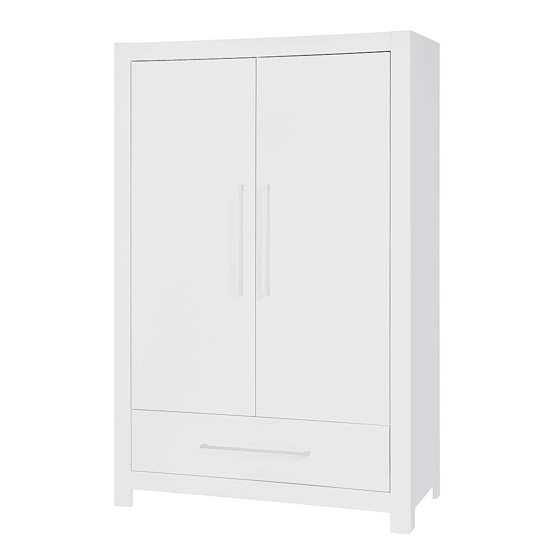 Armoire à vêtements Puro (2 portes) - Sapin - Blanc, Pinolino