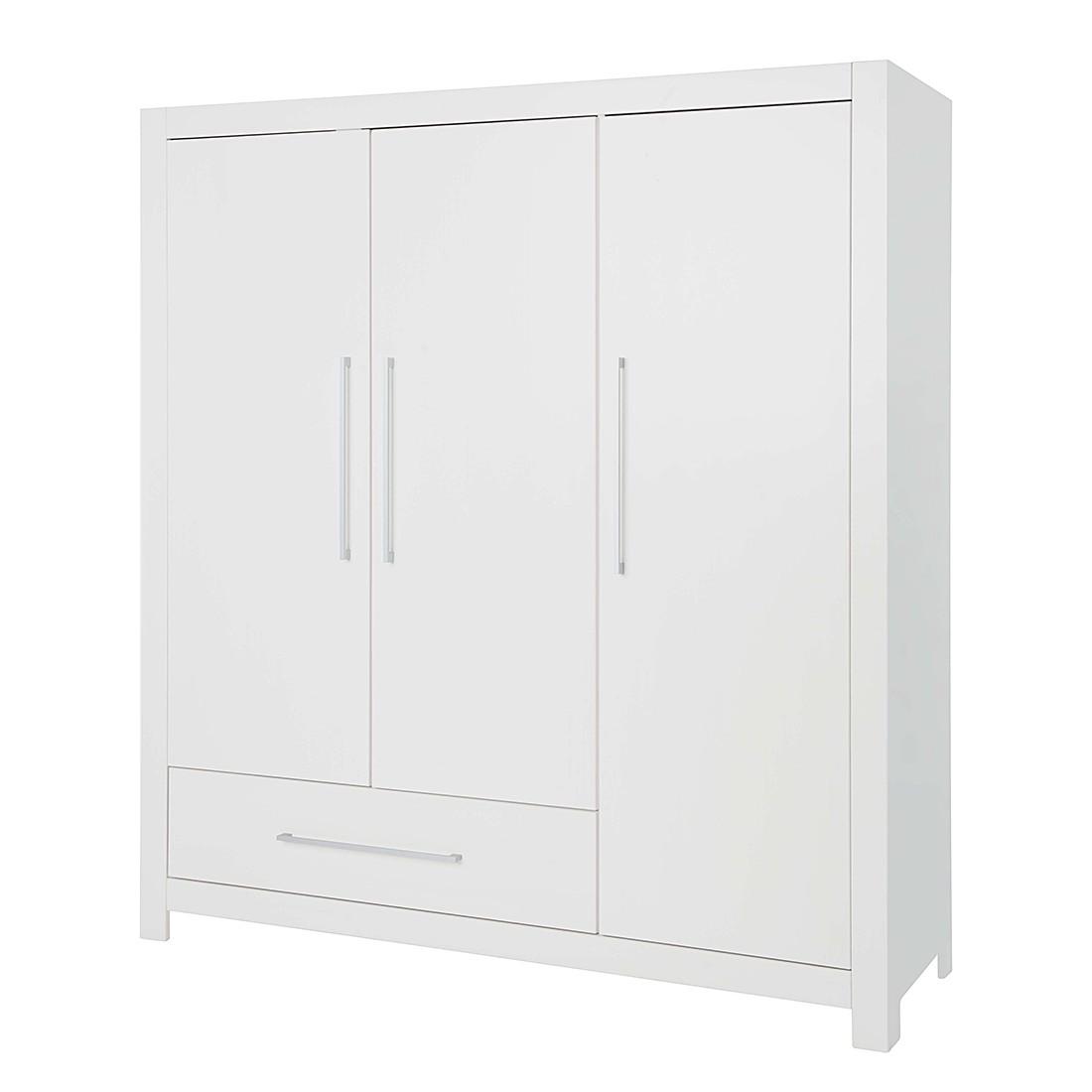 Armoire à vêtements Puro (3 portes) - Sapin - Blanc - Lasuré, Pinolino