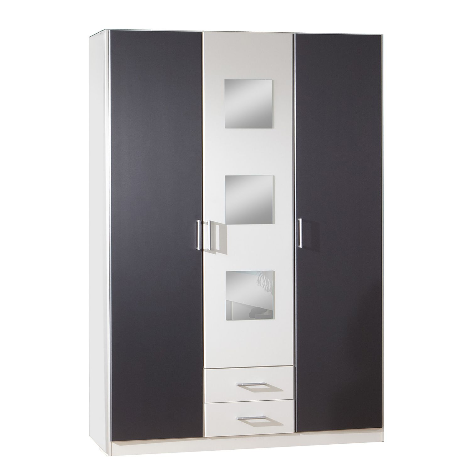 Armoire à vêtements Rocco - Blanc alpin / Anthracite, Wimex
