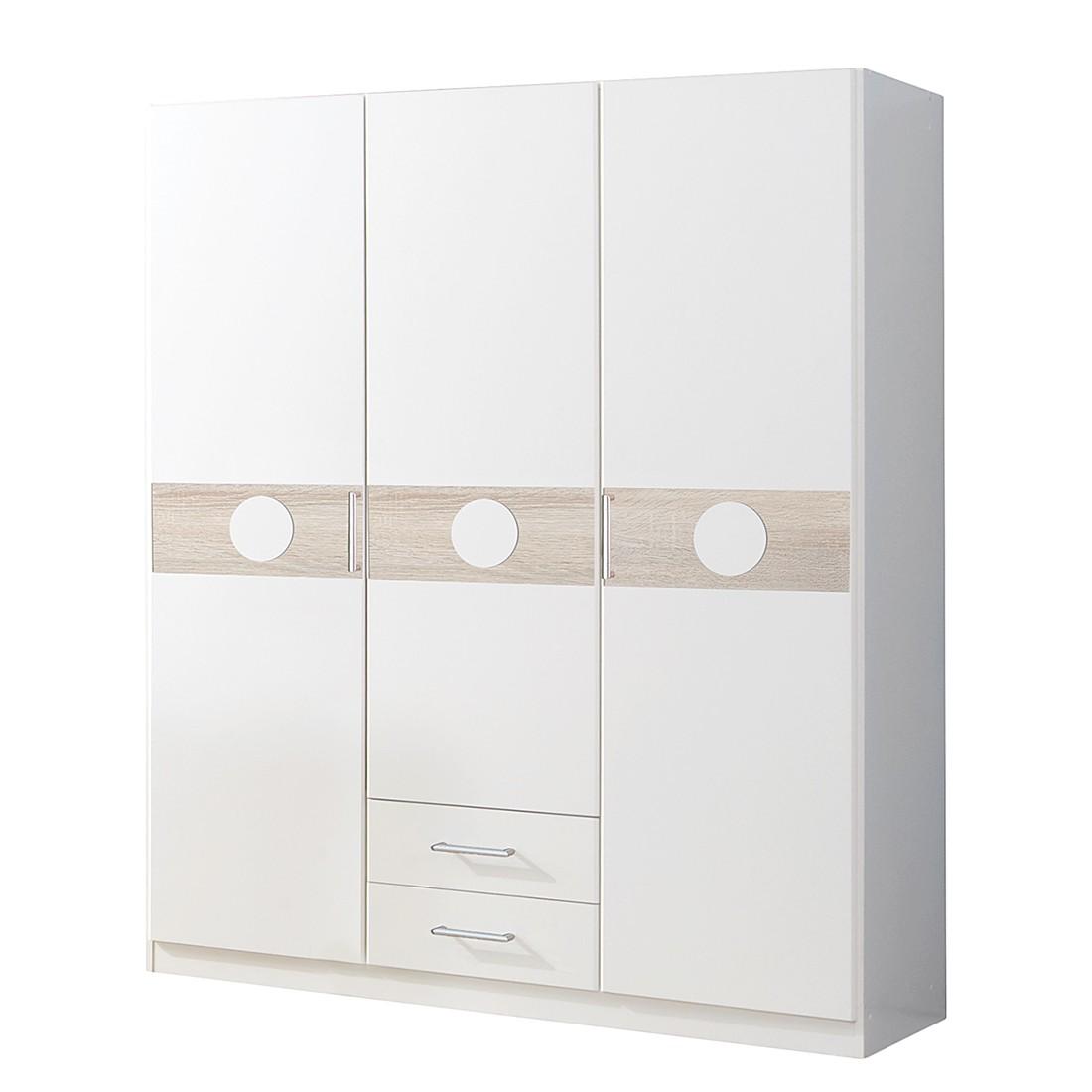 Armoire à vêtements Simba II - Blanc alpin / Chêne brut de sciage, Wimex