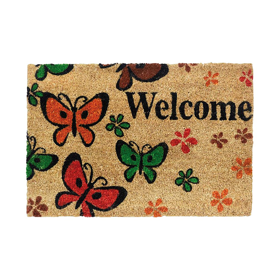 Kokosmatte RUCO Welcome Butterfly - Natur, Siena Home