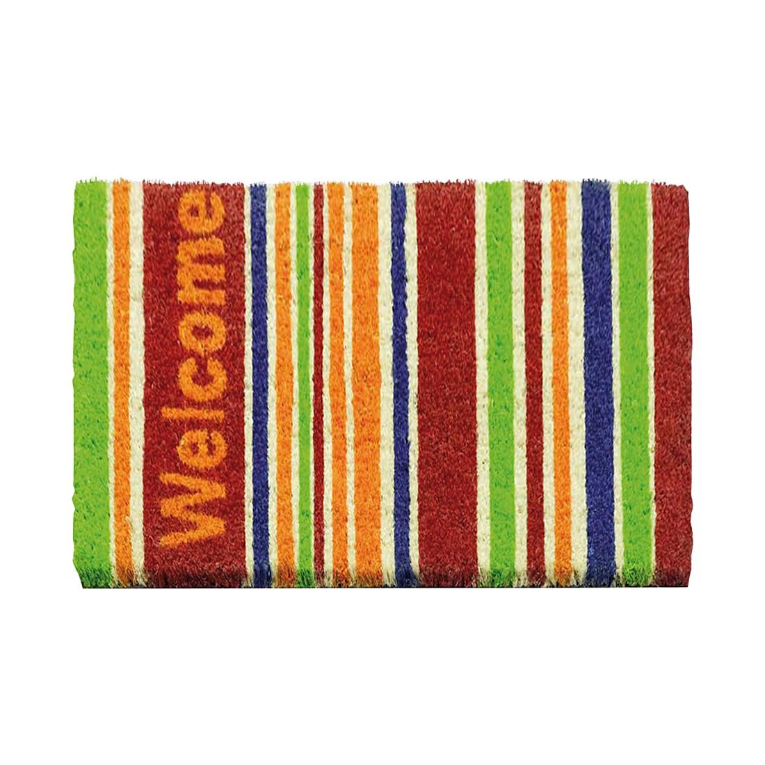 Kokosmatte RUCO Welcome Stripes - Mehrfarbig, Siena Home
