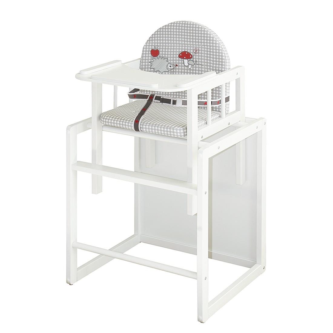 Home 24 - Chaise haute combinée adam & hiboux - blanc / gris, roba