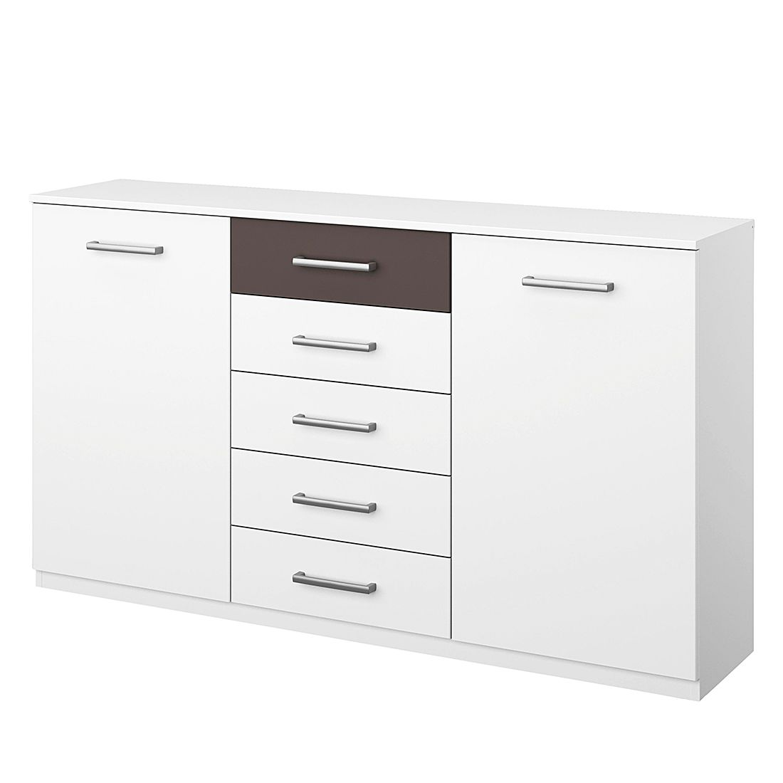 Commode Barcelona II - Blanc alpin / Gris lave, Rauch Packs