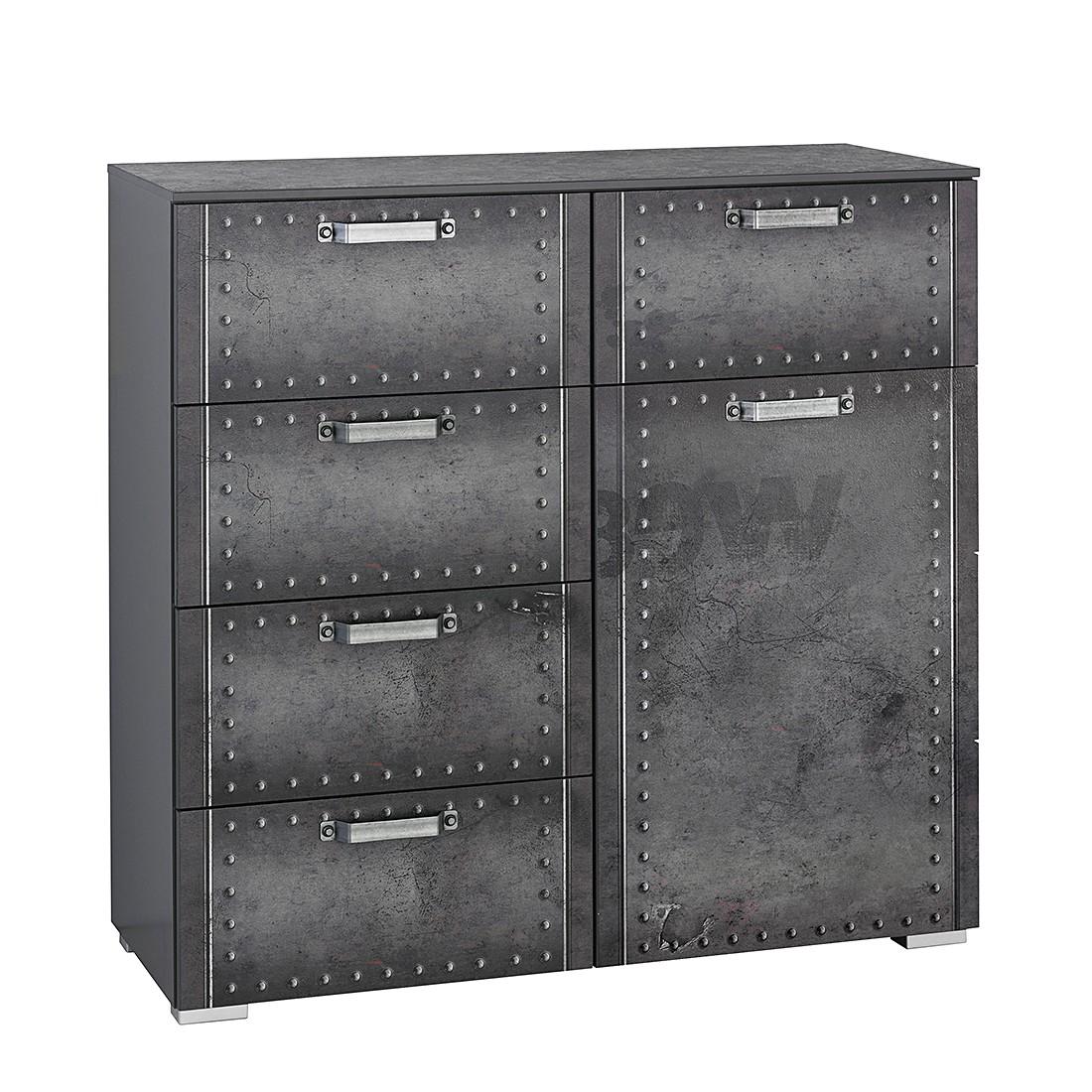 Commode Workbase II - Aspect imprimé industriel / Gris graphite, Rauch Select