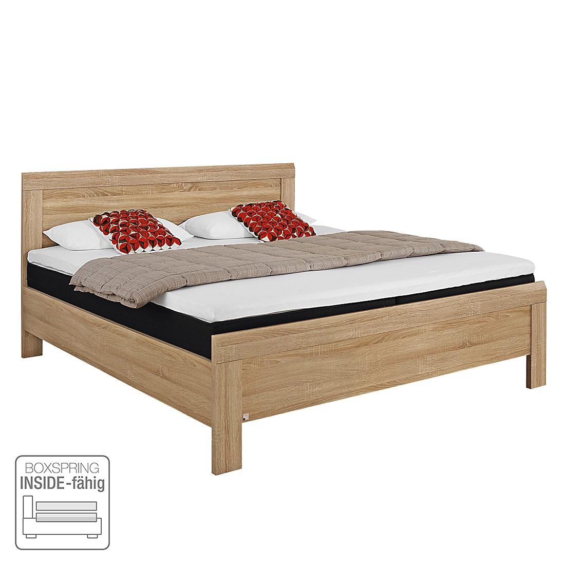 Lit confort Utrecht II (tête de lit basse) - 90 x 200cm - Chêne de Sonoma, Rauch Packs