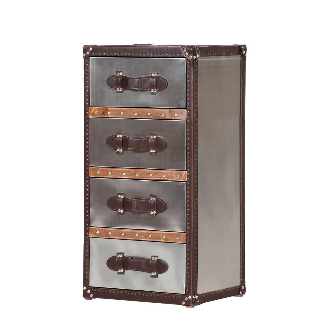 Cassettiera 2 Brooklyn - Acciaio inox con 4 cassetti, ars manufacti