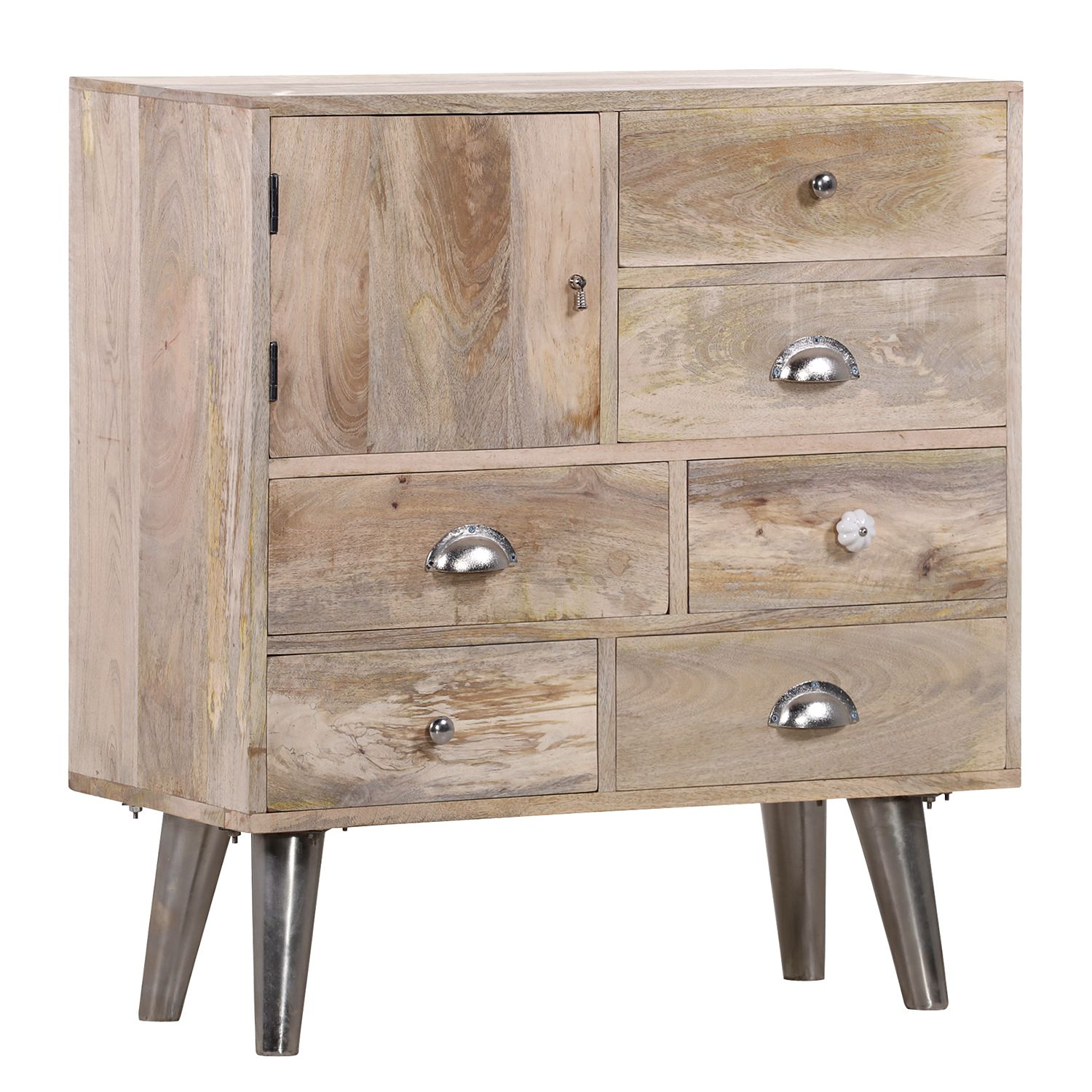 Commode Bambari III - Manguier massif / Fer, ars manufacti